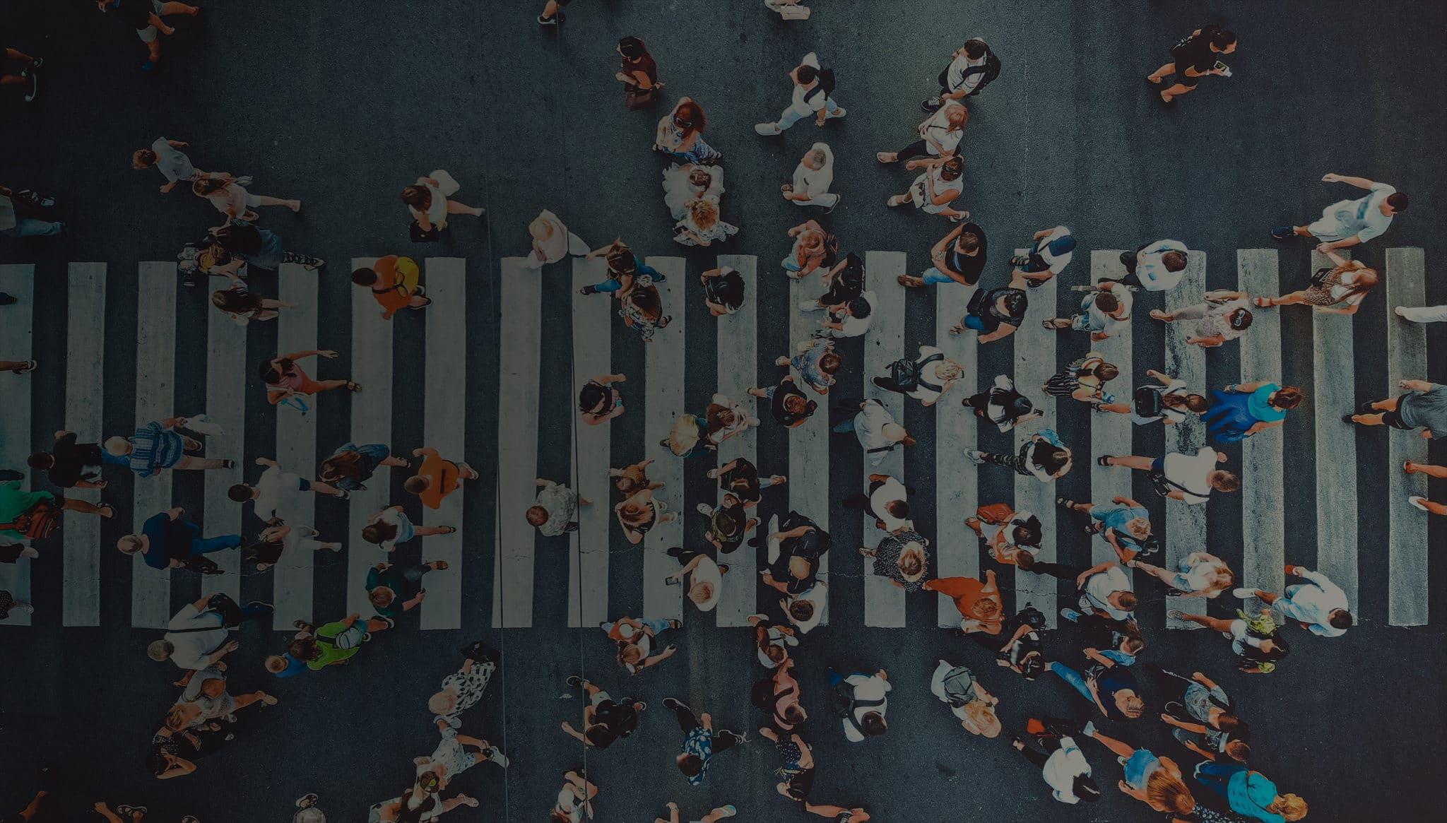 People crossing street
